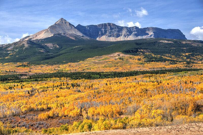 autumn colors in glacier national park montana