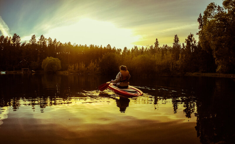 go kayaking on flathead lake