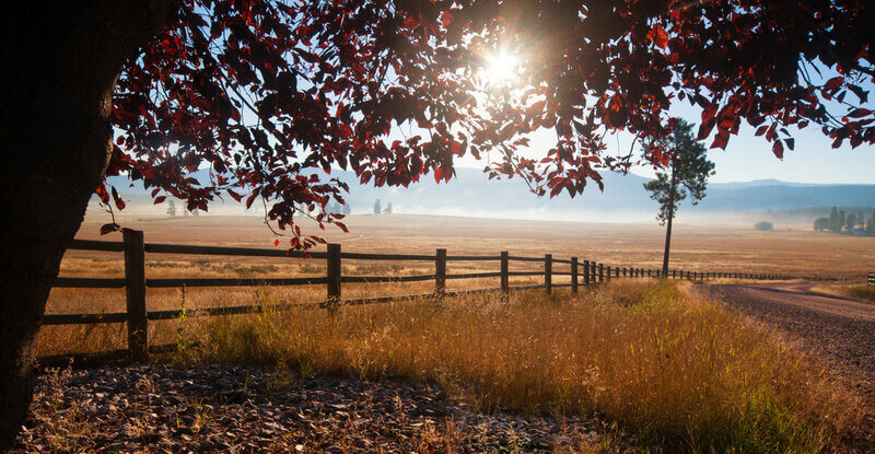ranch in fall montana