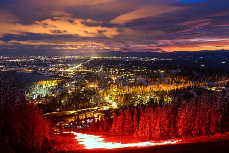 ski slope torchlight