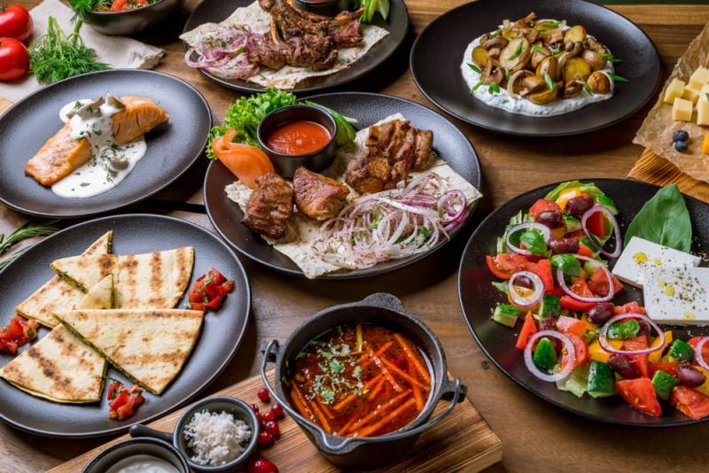 assorted food set